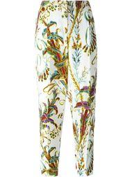 укороченные брюки с цветочным принтом Philosophy Di Lorenzo Serafini