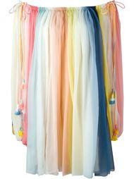 полосатое платье 'Rainbow' с открытыми плечами Chloé