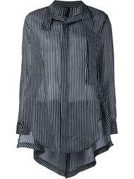 полосатая рубашка с воротником-стойкой Unravel