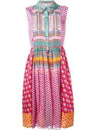 платье-рубашка в стиле пэчворк  Diane Von Furstenberg