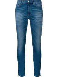 узкие джинсы с высветленным эффектом Mira Mikati