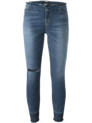 джинсы скинни с необработанными краями J Brand