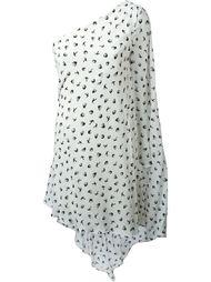 платье с принтом ласточек Sonia Rykiel