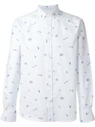 оксфордская рубашка Maison Kitsuné