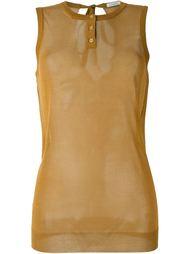прозрачный топ без рукавов  Nina Ricci