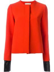 куртка с контрастными манжетами  Marni