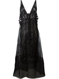 длинное платье в полоску Nº21
