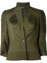 укороченный пиджак с атласными панелями Alexander McQueen