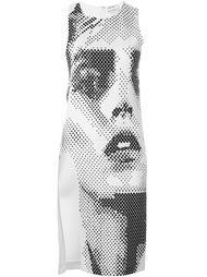 приталенное платье со шлицей сбоку  Anthony Vaccarello