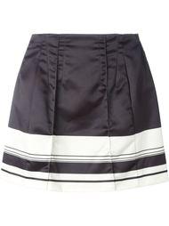 плиссированная юбка в полоску Pt01