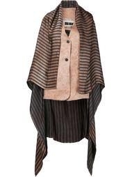 striped waistcoat with trail Uma Wang