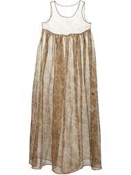 прозрачное платье с цветочным принтом   Uma Wang
