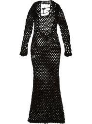 длинное сетчатое платье Sibling