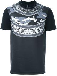 футболка с принтом и молниями по бокам Neil Barrett