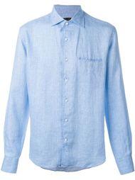 рубашка с вышитым логотипом Corneliani