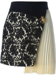 асимметричная кружевная юбка  Fausto Puglisi