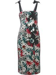 платье-футляр с лиственным принтом Antonio Marras