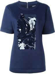 декорированная футболка  DKNY