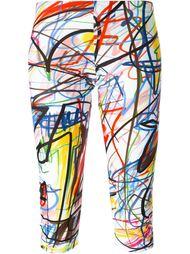 укороченные леггинсы с принтом-граффити Jeremy Scott