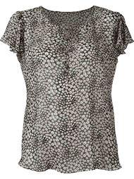 блузка с цветочным принтом   Saint Laurent