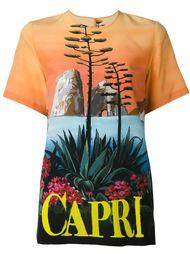 футболка с принтом 'Capri' Dolce & Gabbana