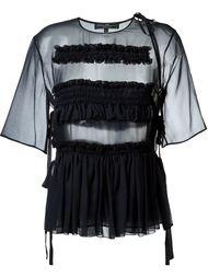 прозрачная блузка  Salvatore Ferragamo