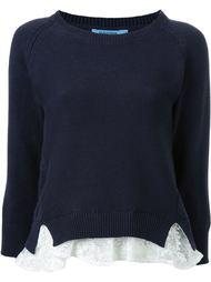 свитер с кружевными деталями  Guild Prime