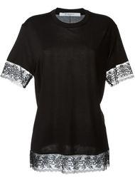 футболка с кружевной отделкой Givenchy