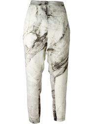 брюки с мраморным принтом Lost & Found Ria Dunn