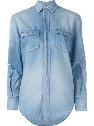 джинсовая рубашка с потертым эффектом Saint Laurent