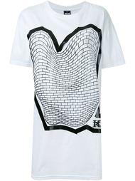 футболка с принтом кирпичной кладки KTZ