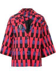 куртка с принтом губных помад KTZ