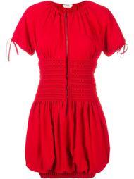 платье со сборками и короткими рукавами Fendi