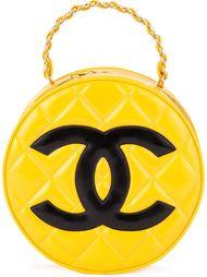 круглый клатч с логотипом Chanel Vintage