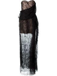 кружевное вечернее платье  Lanvin