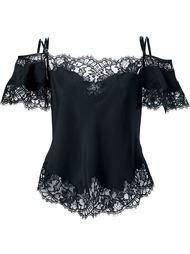 блузка с кружевной отделкой Givenchy