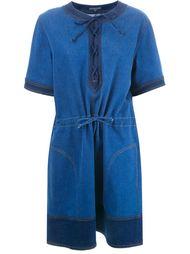 джинсовое платье со шнуровкой Alexander McQueen