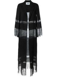 пальто с бахромой MSGM