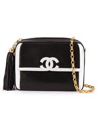 сумка через плечо  с контрастным логотипом Chanel Vintage