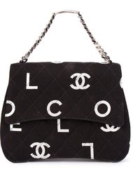 сумка-тоут с принтом-логотипом Chanel Vintage