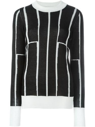 контрастный свитер  Etienne Deroeux