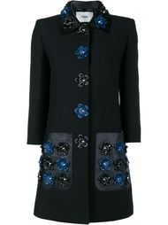 пальто с цветочным украшением Fendi