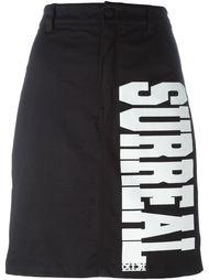 джинсовая юбка с принтом 'Surreal' KTZ