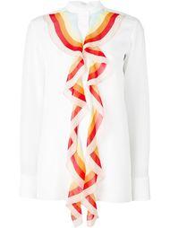 блузка с разноцветными рюшами Chloé