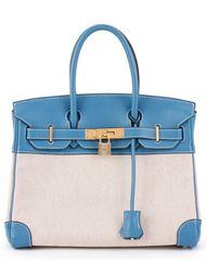 сумка-тоут 'Birkin 30 Toile H' Hermès Vintage