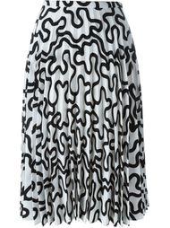 плиссированная юбка с принтом J.W.Anderson