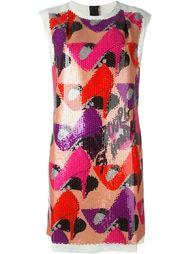 платье-шифт с пайетками Lanvin