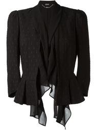 пиджак с оборками и баской Alexander McQueen