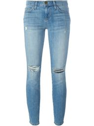 джинсы скинни с потертой отделкой Current/Elliott