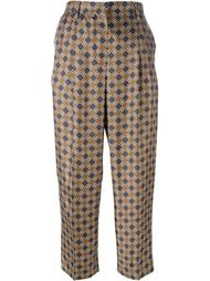 брюки с геометрическим принтом Incotex